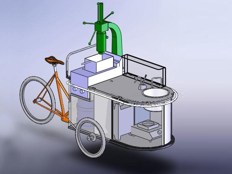3D-Modellierung Kleinstbetrieb auf Rädern